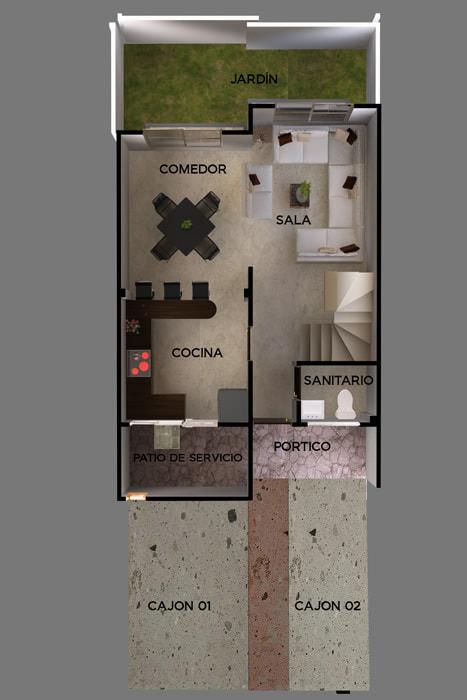 planos Casa Modelo Portales