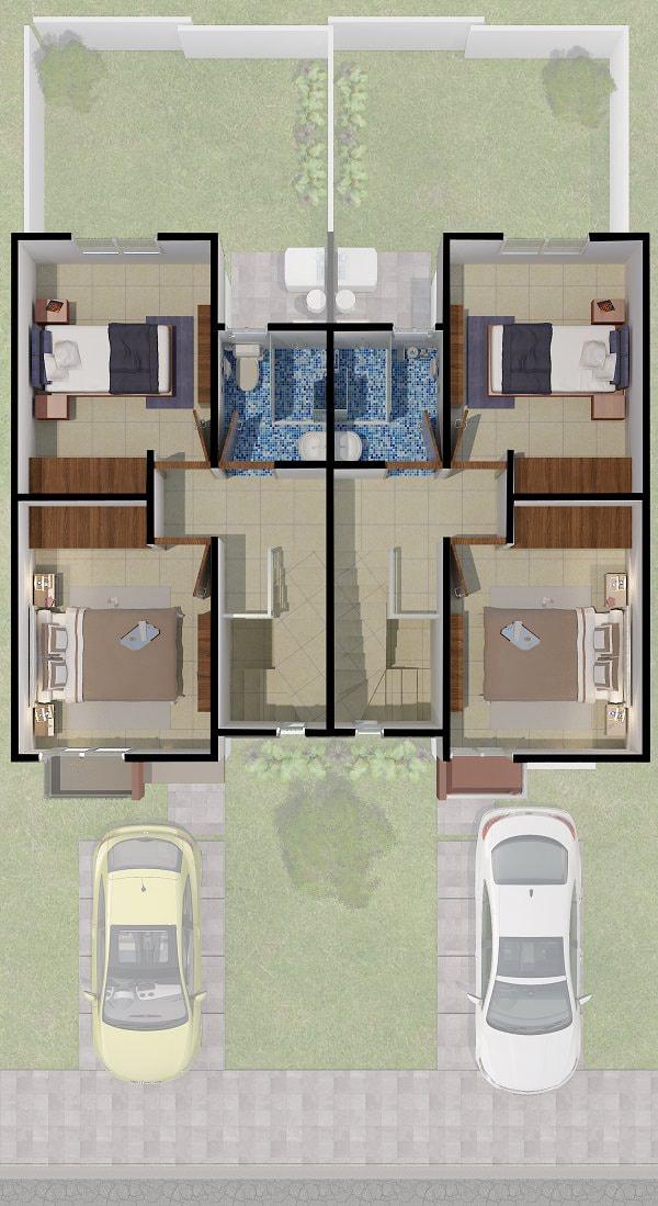planos Casas modelo Manzano