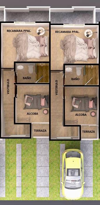 planos Casas Modelo Pegaso