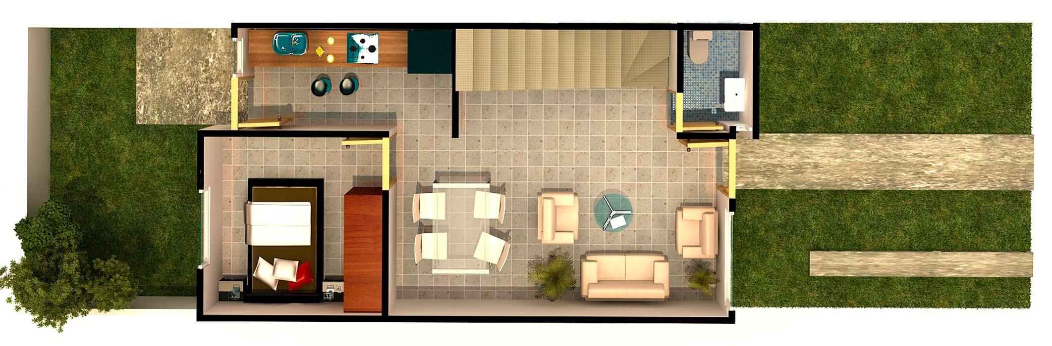 planos Casas Modelo Roble