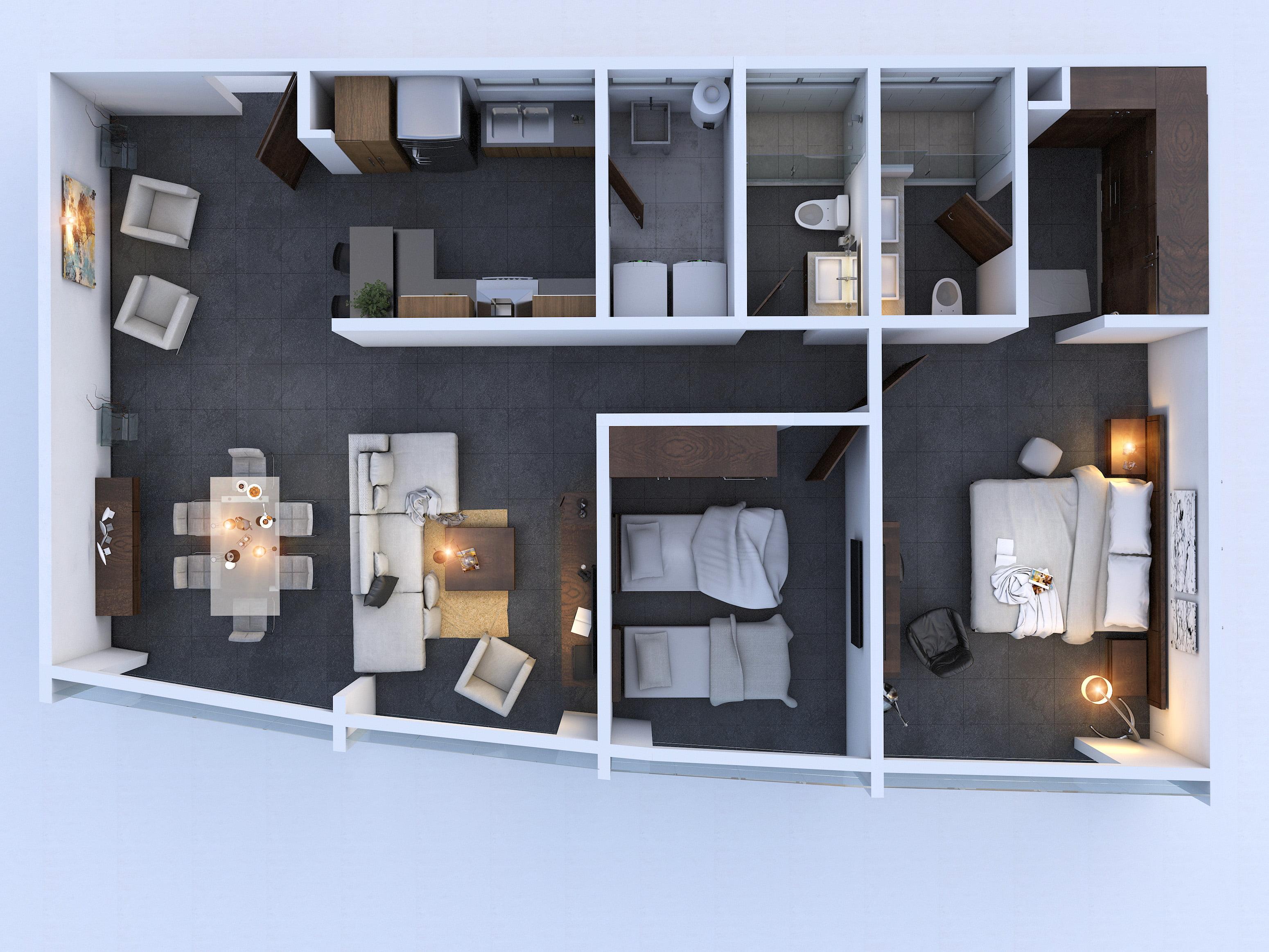 planos Departamentos Modelo Álpes - Ándes Penthouse