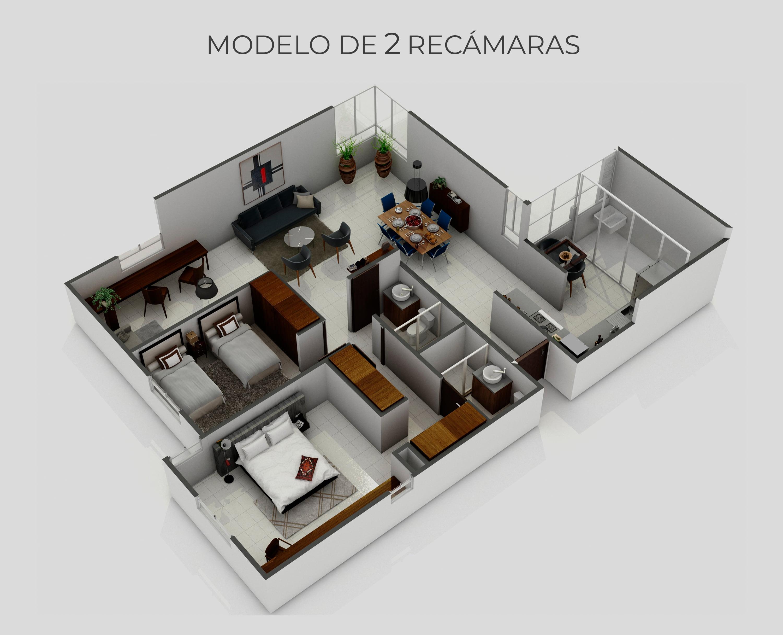 planos Departamentos modelo Apolo