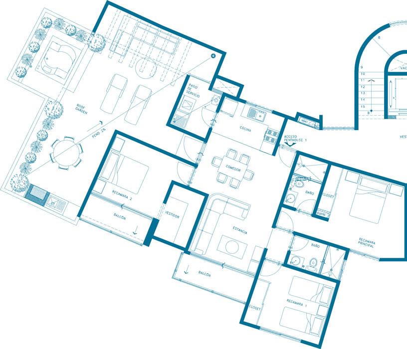 planos Departamentos Modelo Aqua PH