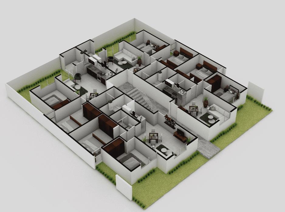 planos Departamentos Modelo Gardenia