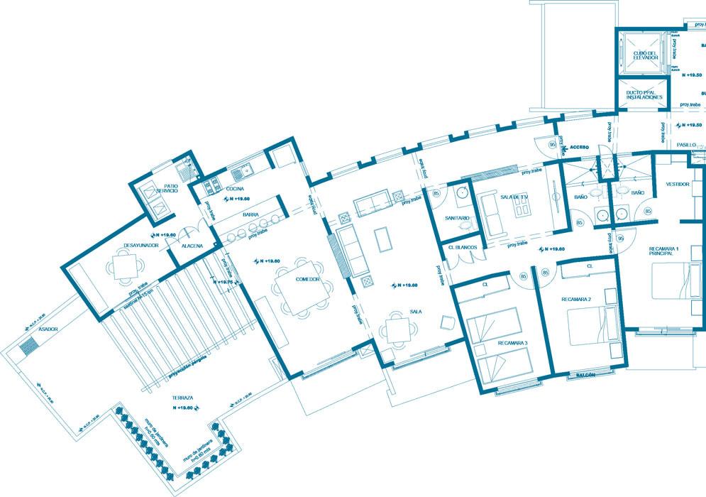 planos Departamentos Modelo Turquesa PH