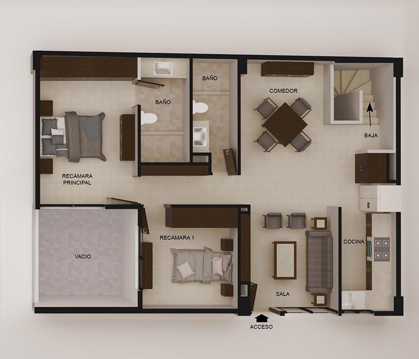 planos Departamentos Room Family